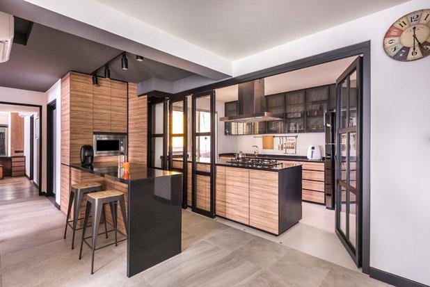 Asian Kitchen by akiHAUS Design Studio