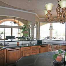 Mediterranean Kitchen by HAJEK & Associates, Inc.