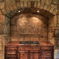 Mediterranean Kitchen by Jeff Watson Homes, Inc.