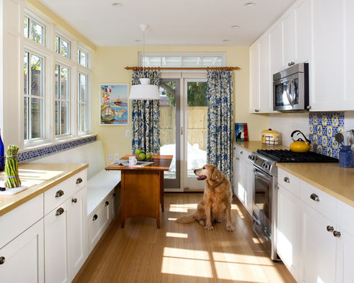 blue and yellow kitchen houzz. Black Bedroom Furniture Sets. Home Design Ideas