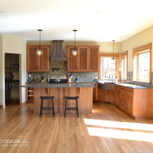 #116 Maple Cabinets:  Beadboard Doors with Tuscany Stain