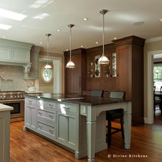 Transitional Kitchen by Divine Design+Build