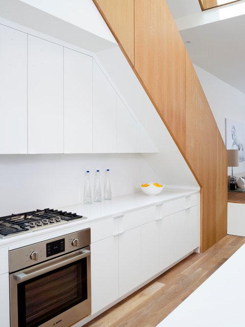 Contemporary Kitchen Under Stair Home Design Ideas Photos