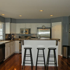 Transitional Kitchen by Geri Reilly Real Estate