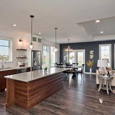 Transitional Kitchen by Lisa Clark Design
