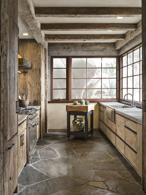 Rustic Galley Kitchen Design Ideas Remodel Pictures Houzz