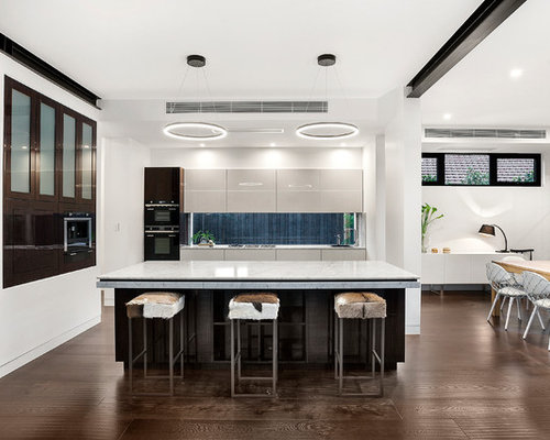 This Is An Example Of A Contemporary Kitchen In Melbourne With Drop Sink