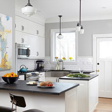 Transitional Kitchen by MacPhee Carpentry