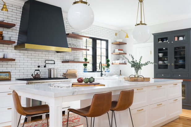Where to Hang Open Shelves in the Kitchen