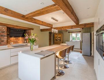 18th Century Farmhouse with new white kitchen