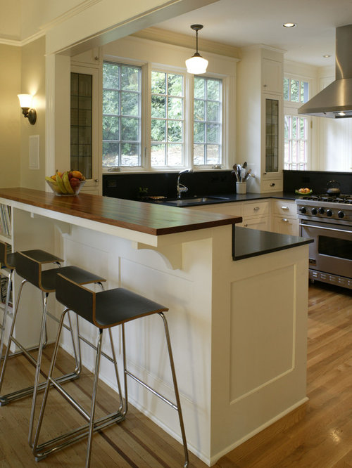 Danish Modern Kitchen With Granite Countertops Design Ideas Remodel Pictures Houzz