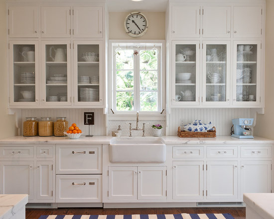 kitchen cabinet glass doors | houzz