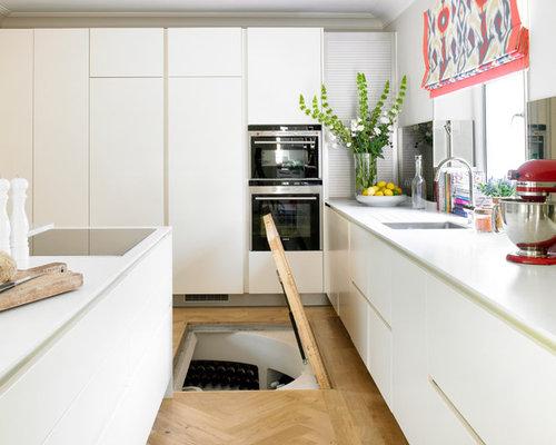 Underground wine cellar home design ideas renovations - Wine cellar trap door ...