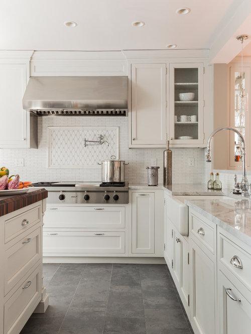 Grey Floor White Cabinet Houzz