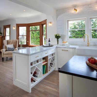 Perfect Transitional Kitchen by Kim Grant Design Inc