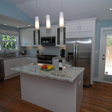 Transitional Kitchen by Schachne Architects & Builders