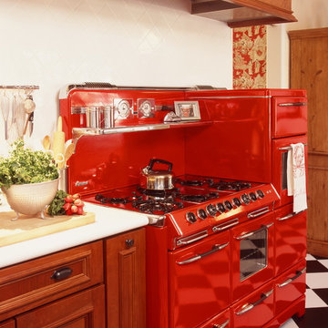 1947 O'Keefe & Merritt Town and Country stove required a custom exhaust hood
