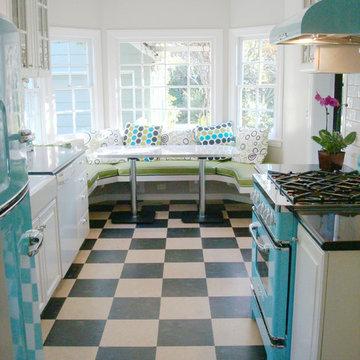 1950s Retro Chill Aqua Kitchen