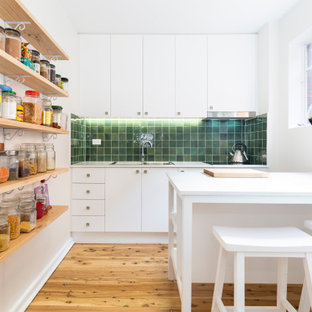 Design ideas for a small contemporary kitchen in Wollongong.