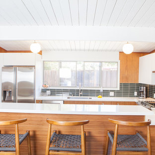 Midcentury Modern Kitchen Pictures 1960s U Shaped Vinyl Floor Photo In San Francisco