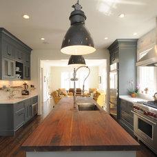 Transitional Kitchen by Allard Ward Architects