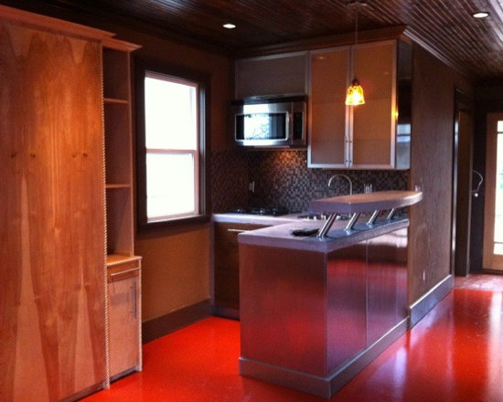 Car Garage Converted Into A Swanky Studio Apartment With A