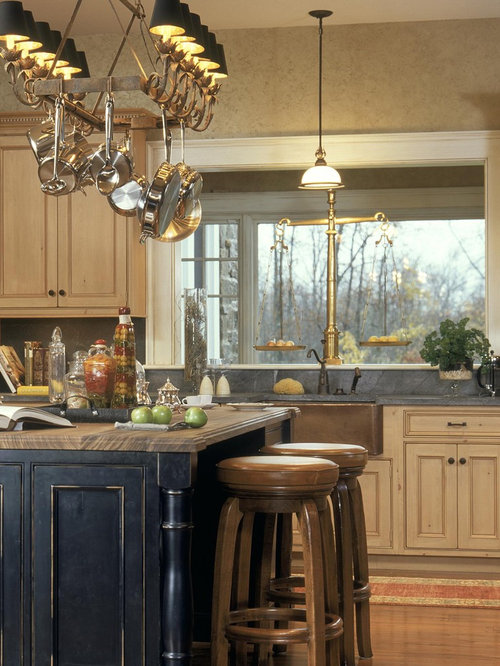 elegant kitchen photo in boston with a farmhouse sink beaded inset cabinets distressed cabinets - Beaded Inset Kitchen Decor