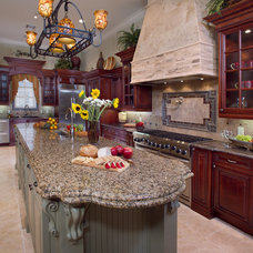 Mediterranean Kitchen by Keesee and Associates, Inc.