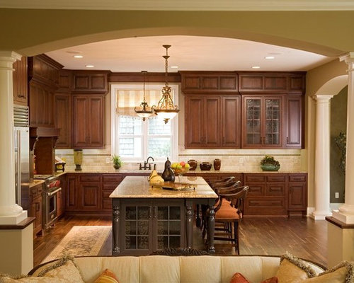 Exceptionnel Inspiration For A Timeless Open Concept Kitchen Remodel In Minneapolis With  Raised Panel Cabinets,