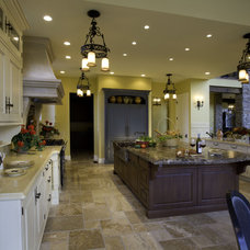 Mediterranean Kitchen by Lawrence Architecture, Inc.