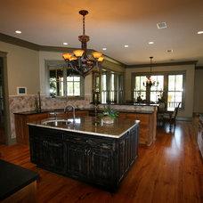 Craftsman Kitchen by Bob Chatham Custom Home Design