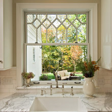 Kitchen Window treatments with tile