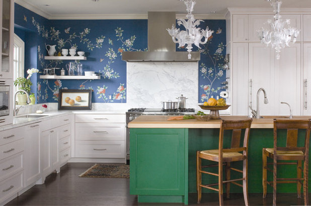American Traditional Kitchen by Andrea Schumacher Interiors