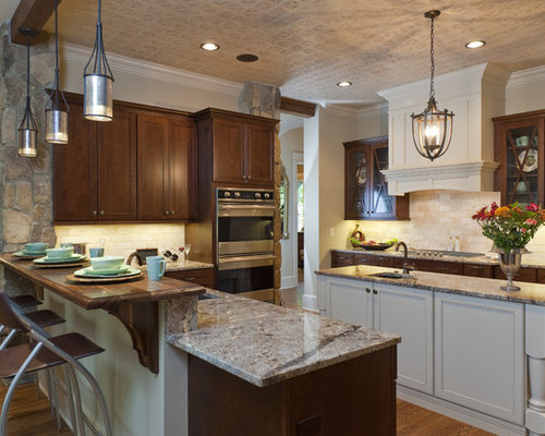 Wood Breakfast Bar Home Design Ideas Pictures Remodel
