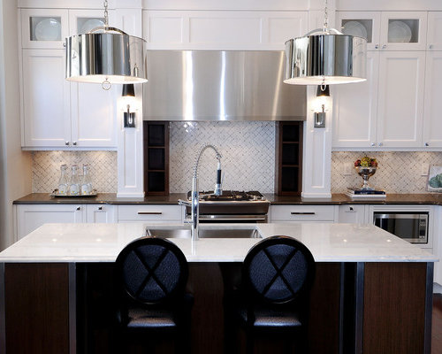 Trendy Kitchen Photo In Other With Recessed Panel Cabinets, Stainless Steel  Appliances, A