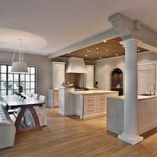 Contemporary Kitchen by DeRhodes Construction