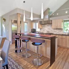 Contemporary Kitchen by Quartersawn Design Build