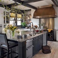 Eclectic Kitchen by Green Couch Interior Design