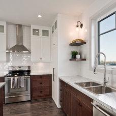 Transitional Kitchen by Dowalt Custom Homes Inc