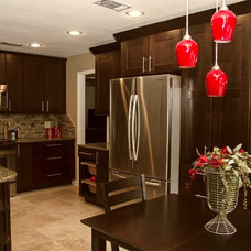 Transitional Kitchen by Jamie McConnell of Factory Builder Stores