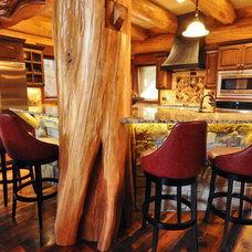 Traditional Kitchen by Mountain Log Homes & Interiors