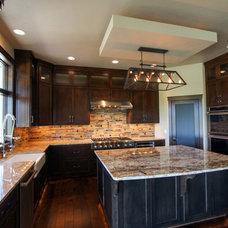Transitional Kitchen by Rautmann Custom Homes