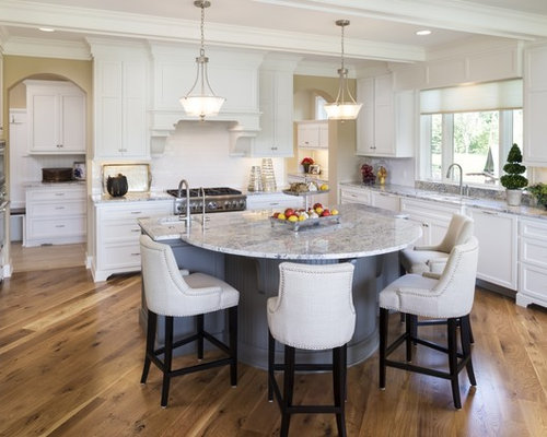 Inspiration For A Timeless Medium Tone Wood Floor Kitchen Remodel In Minneapolis With An Undermount Sink