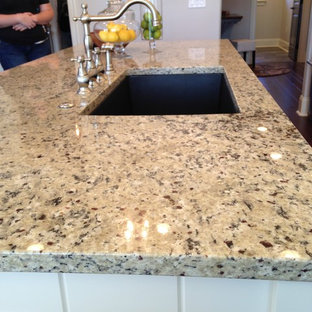 Beau Kitchen   Kitchen Idea In Other With An Undermount Sink, Granite Countertops  And An Island
