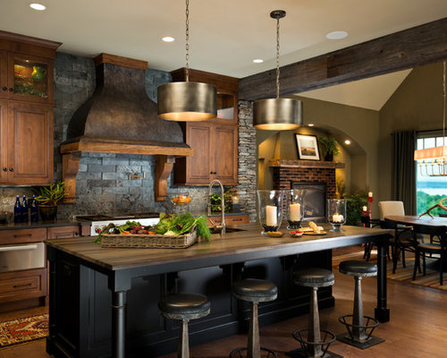 Galley Kitchen With Slate Splashback Design Ideas Pictures Inspiration Houzz