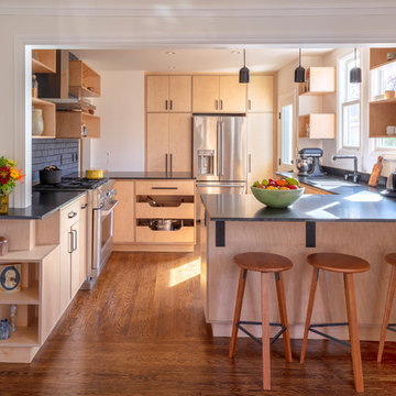 2018 Berkeley Raw Wood Kitchen Remodel