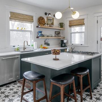 2019 Green Farmhouse Kitchen