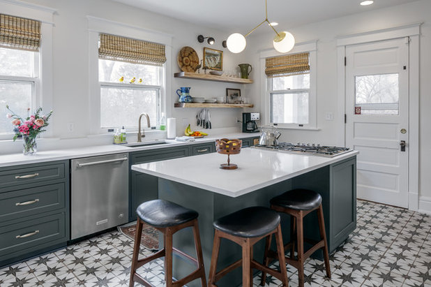Farmhouse Kitchen by Waukee CabinetWorks
