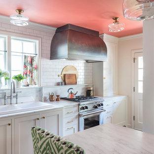 Craftsman Kitchen Ideas   Example Of An Arts And Crafts Kitchen Design In  Kansas City