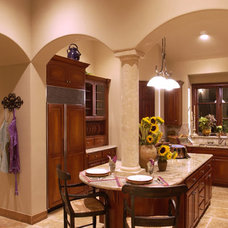 Mediterranean Kitchen by Canyon Creek Homes, LP